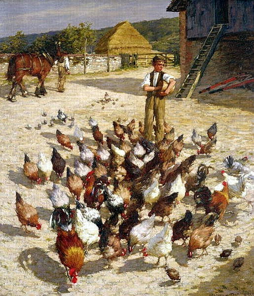 Henry Herbert La Thangue - Sussex Farm 1887