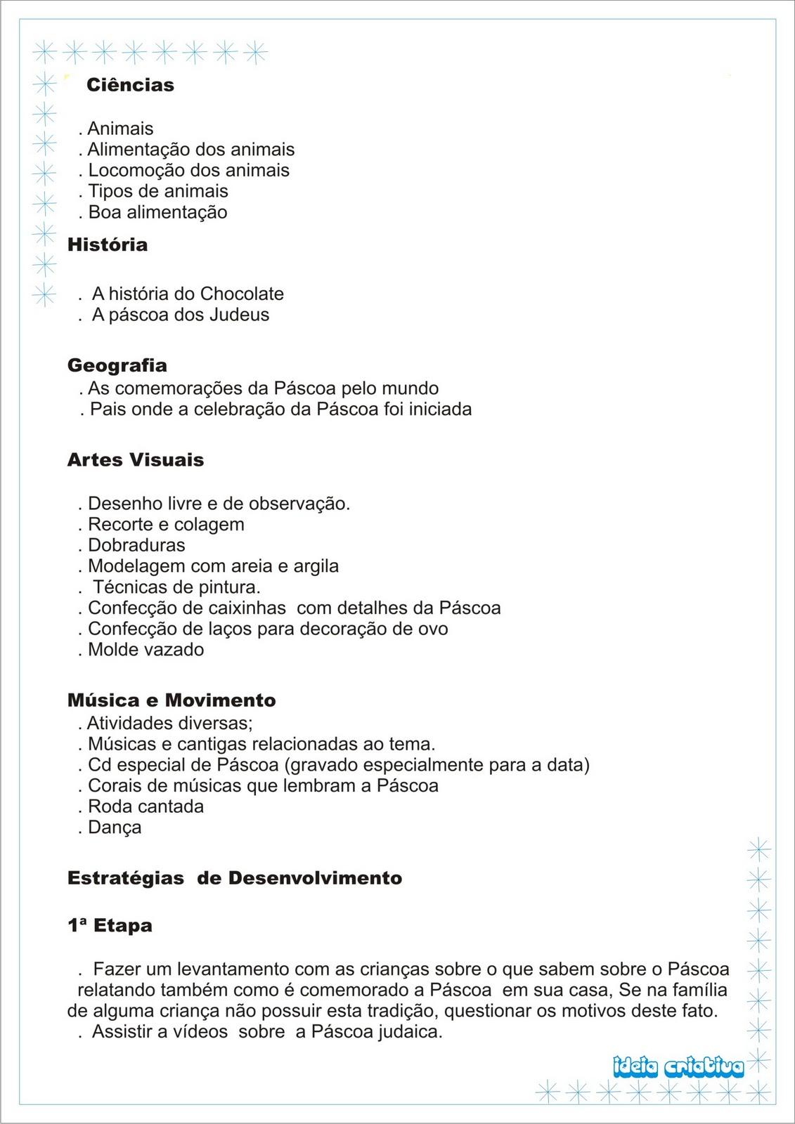 Projeto Pascoa Ideia Criativa Anexos Projeto Pascoa Ideia Criativa 1