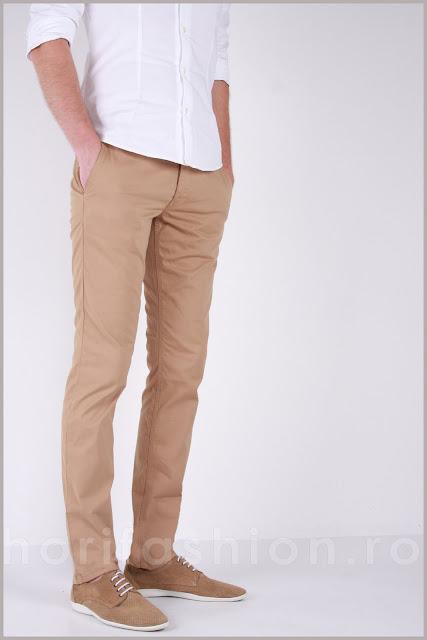 Pantaloni Hass & Platt Slim Fit, Talie joasa, Model superb