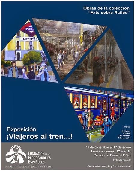 exposición viajeros al tren,madrid