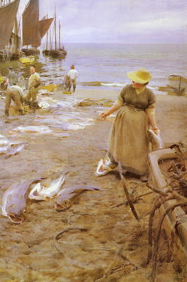 Anders Zorn - Fiskmarknad I St. Ives