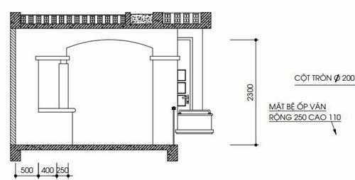 Chi tiết vòm kỹ thuật chích từ tầng 1