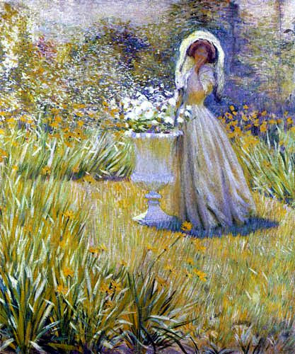 Philip Leslie Hale - Woman in garden
