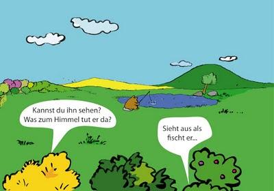 Da sieht man mal wieder: Bär am See