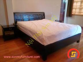 Giường ngủ gỗ tự nhiên SMF681