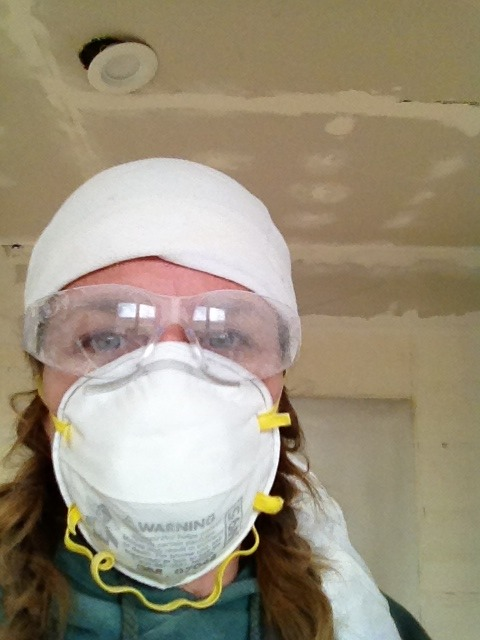 how to fix a bad mud job on painted drywall