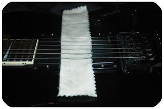 Limpieza cuerdas guitarra