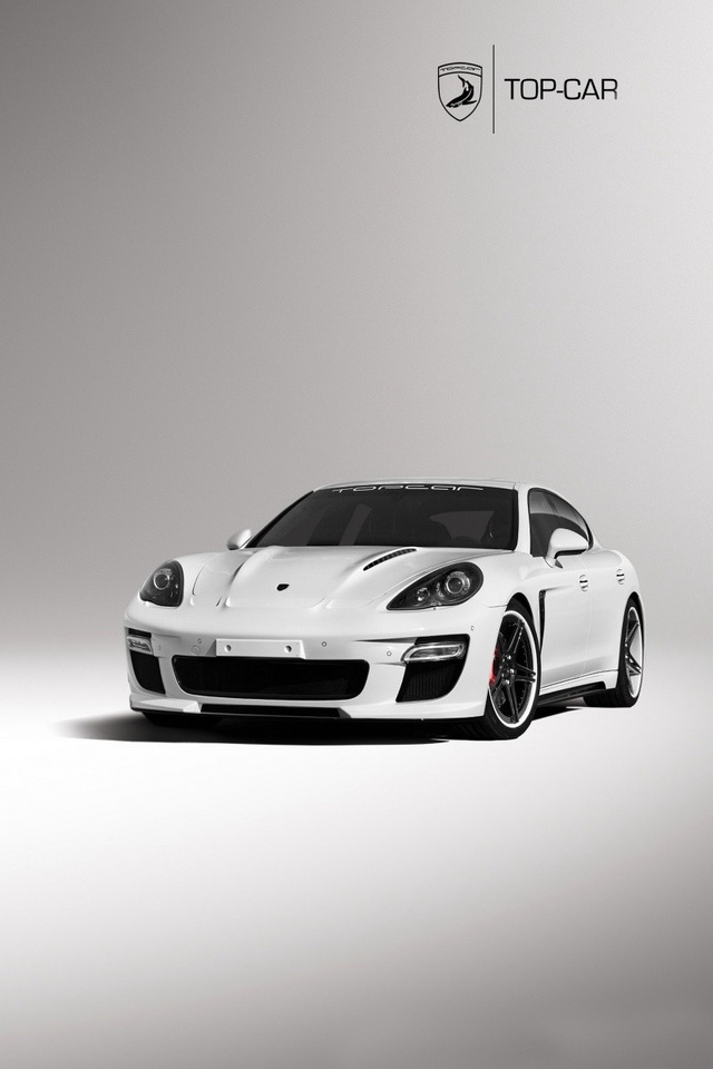 White Luxury Car HD Wallpaper For iPhone 4