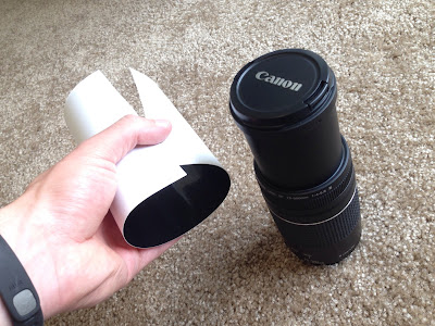 how to make a solar filter for camera