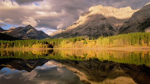 Fortress Mountain and Mount Kidd, Wedge Pond, Alberta, Canada.jpg