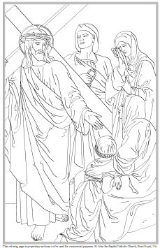 Stations Of The Cross Coloring Pages Simple Printable Stations Of The Cross For Children Design Inspiration