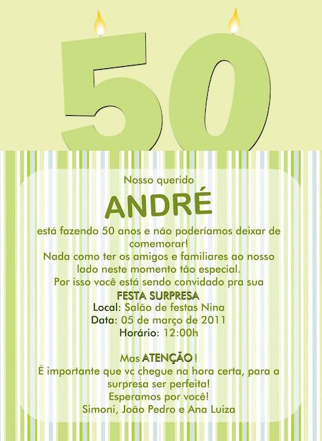 Lilian Delfino Convite 50 Anos