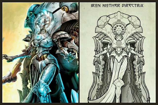Iron Mother  Directrix Warcaster de Convergence of Cyriss ilustraciones
