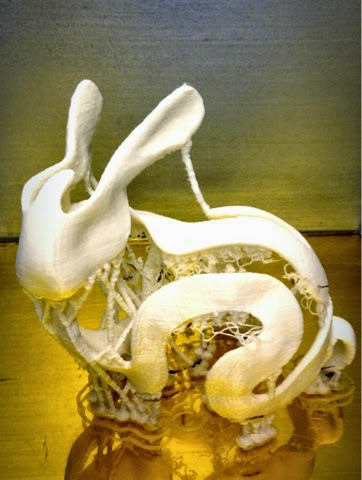3D Printed rabbit sculpture.