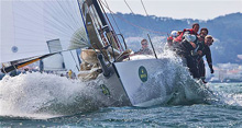 J/125 Double Trouble- Andy Costello- sailing San Francisco Big Boat Series