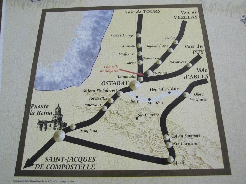 Camino francés, via podiensis, camino aragonés