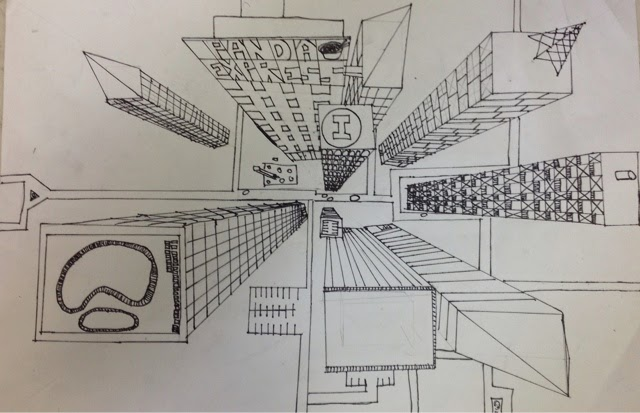 Mrs. Paul's Art Room: Birds Eye View of a City! |Birds Eye View Drawings