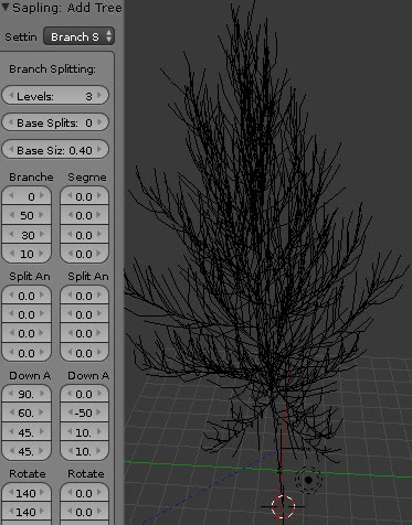blender sapling branch splitting levels 3