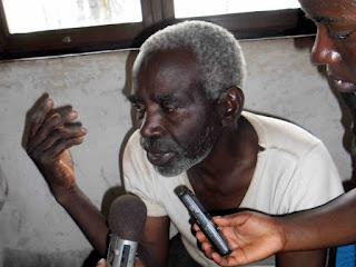Le général autoproclamé Kasereka Lianabo, alias Mandefu, présumé cerveau moteur de la récente attaque de la prison centrale Kangwayi de Beni le 1er juillet 2013. Ph. Papy Martial Mukeba