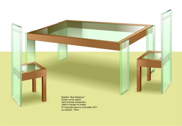 table design contemporain