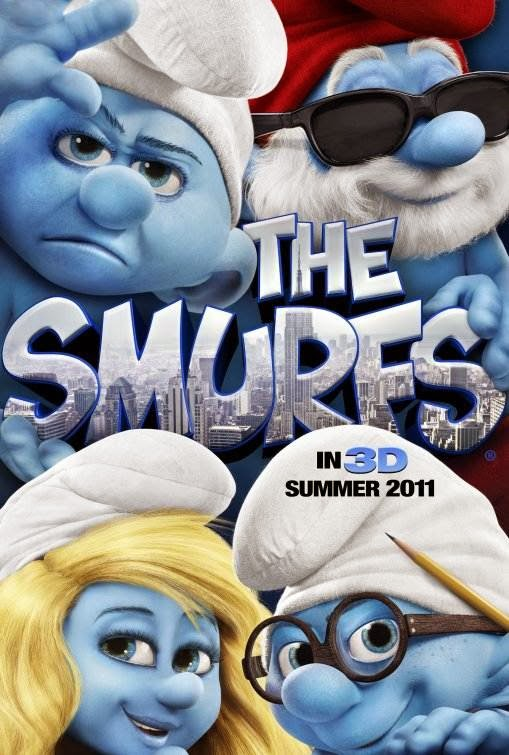 Poster Of The Smurfs (2011) Full Movie Hindi Dubbed Free Download Watch Online At Alldownloads4u.Com