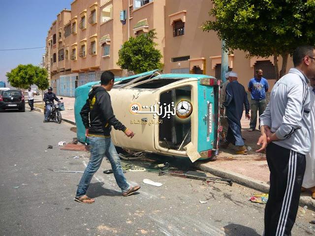 روبورتاج مصور  حول حادثة السير الخطيرة قرب المستشفى الإقليمي لتيزنيت