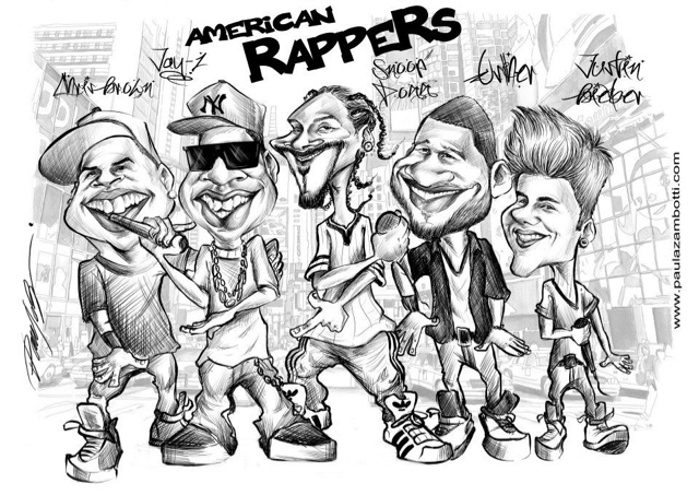 Caricaturas American Rappers Caricaturas Paula Zambotti Chris Brown Para Colorir