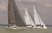 J/111s starting off line in Vice Commodores Cup- Cowes, England