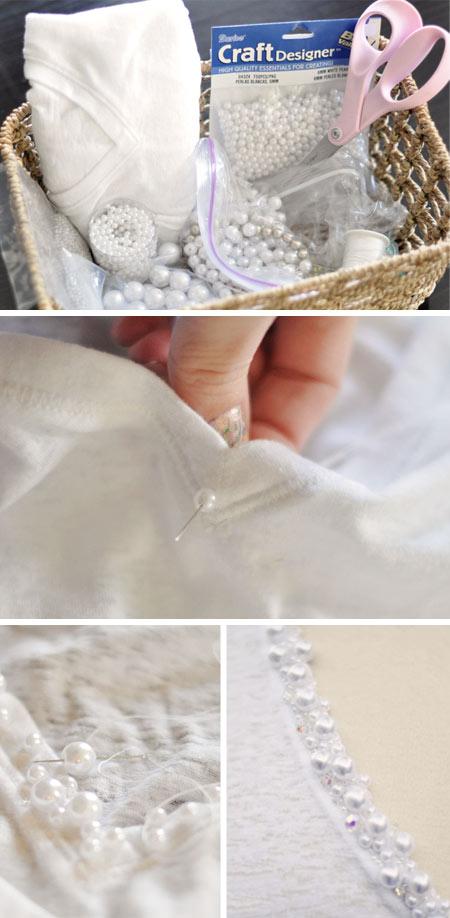 diy - customização de camiseta branca com bordado