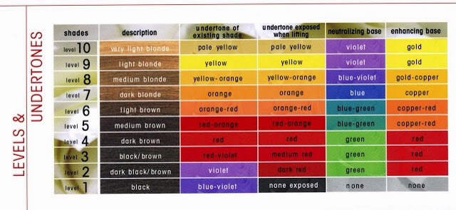 Angka 1 Pada Warna Biru Dan Menunjukan Level Natural Shade Yellow 9