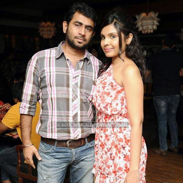 Janak and Pooja pose together during a Weekend party, held at Zara.