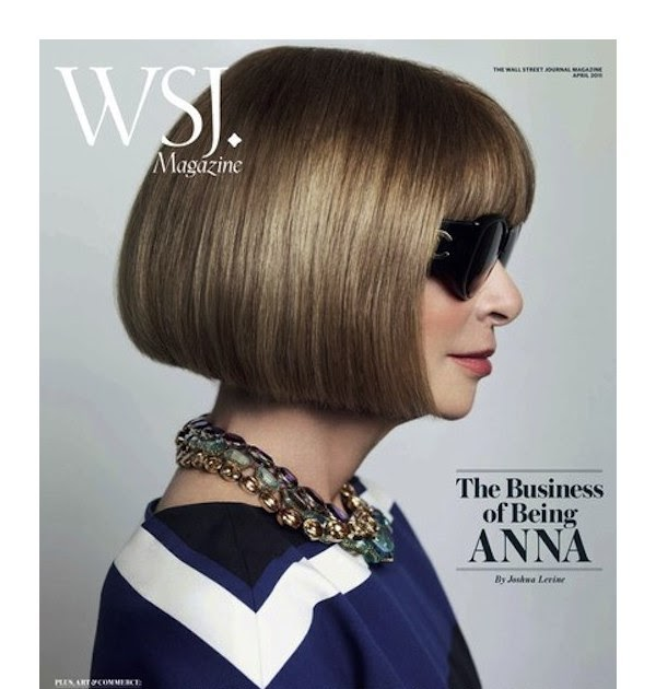 Anna Wintour On The Cover Of The Wall Street Journal April ...