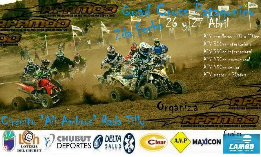 Quad Cross Patagonia en Rada Tilly.