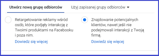Rich results on Google's SERP when searching for 'nowi użytkownicy reklamy dynamiczne facebook ads'