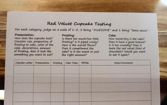 Red Velvet Cupcake Tasting