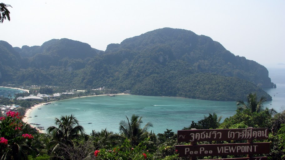 The main town on Koh Phi Phi Don from viewpoint