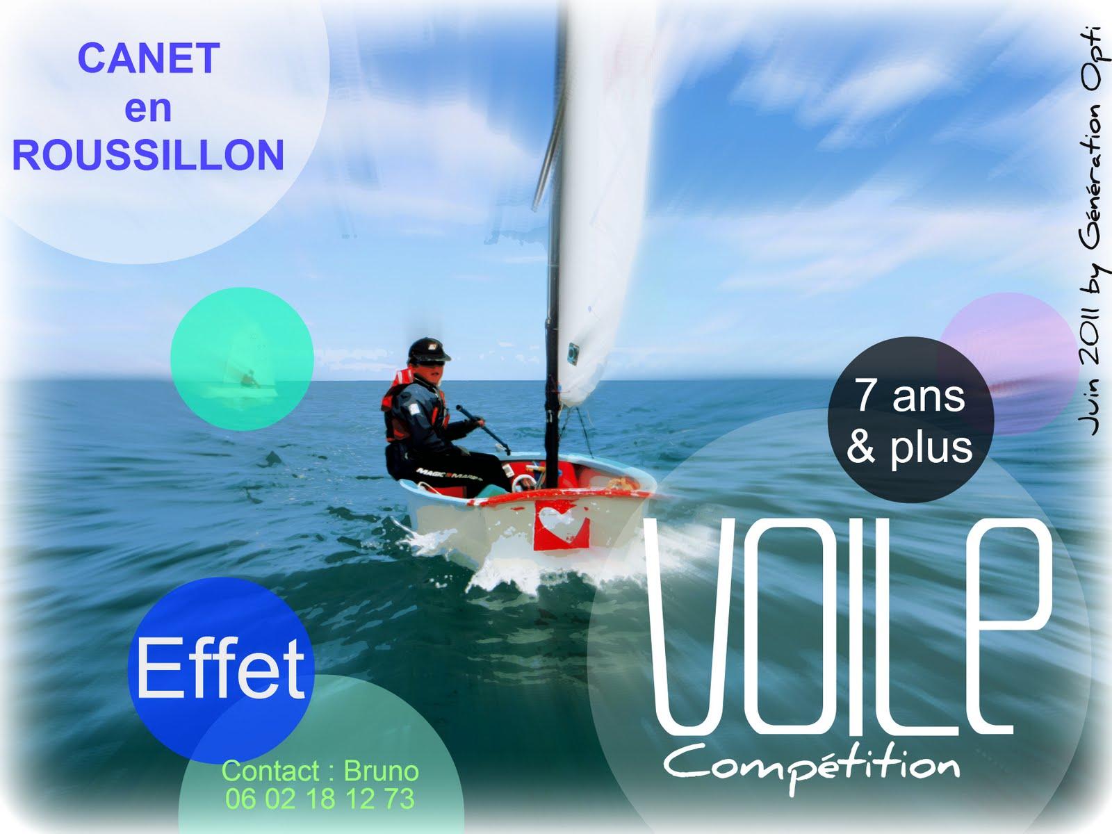 inscription voile compétition optimist 66 Canet-en-Roussillon