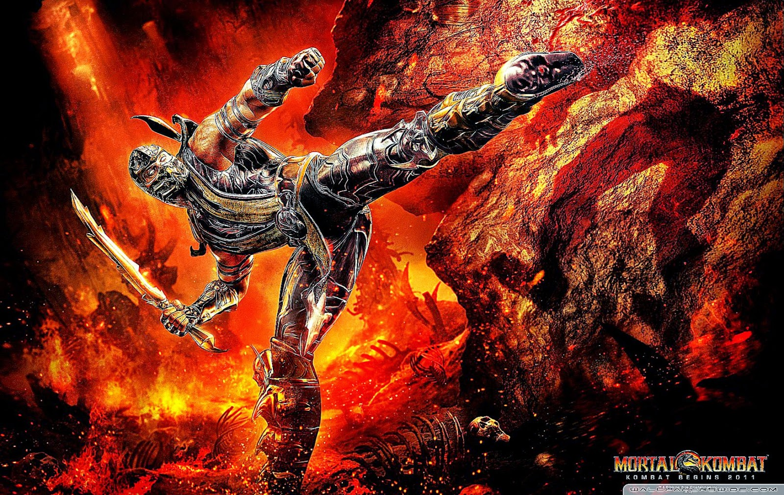 Mortal Kombat 9 Scorpion HD desktop wallpaper  High Definition