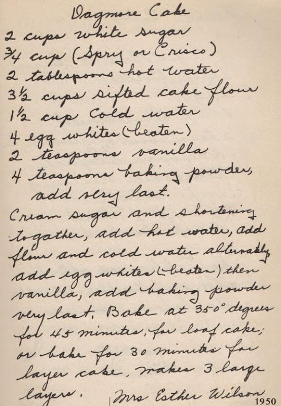 Dagmore Cake | 1950