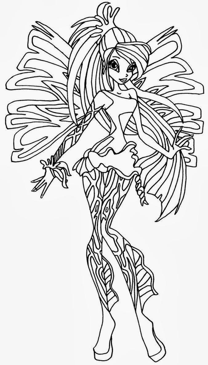 disegni da colorare gratis delle winx sirenix