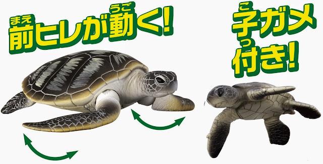 Mô hình Rùa xanh Ania AS-20 Green Turtle cử động được 2 chân