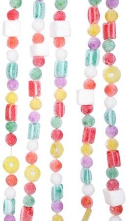 Kurt Adler 9-Ft Plastic White Flocked Candy Garland