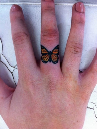 small finger tattoos