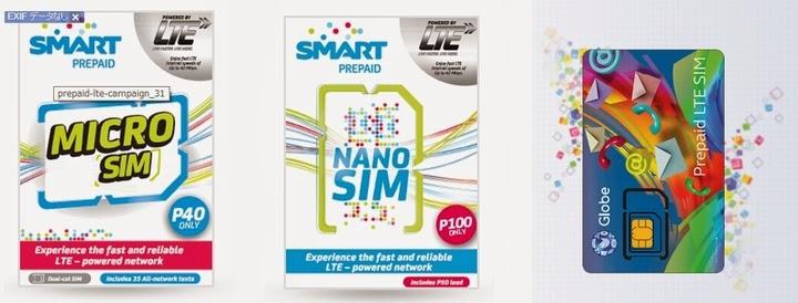 フィリピンのSmart社/Globe社のSIMカード