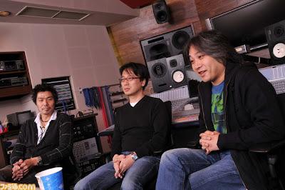 From left, Kenjiro Morimoto, Tomonori Sawada, Jun Senoue.