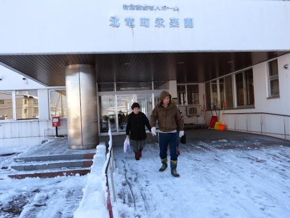雪道を通います