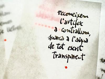 escrits en tinta invisible, llibre de poemes