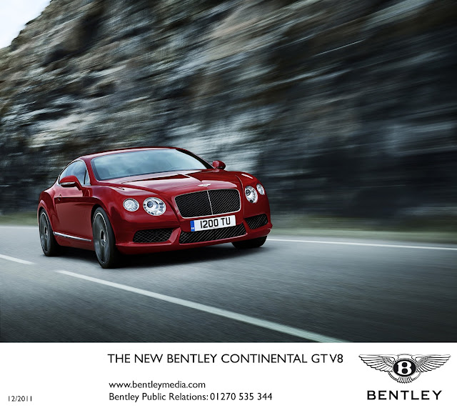 The New Bentley Continental Gt In Platinum: BENTLEY SPOTTING: New Bentley Continental GT V8