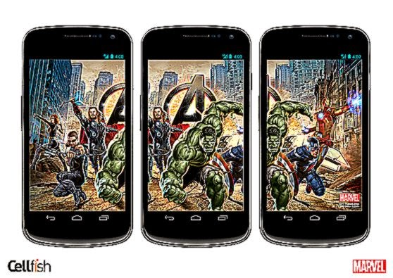 Marvel and Cellfish to launch an Android personalization app