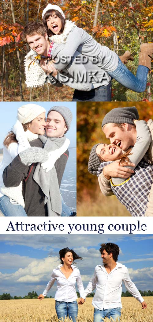 Stock Photo: Attractive young couple on the nature